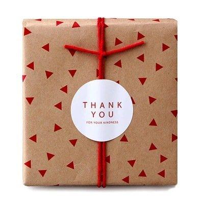 "LOTTO 8 stickers adesivi in carta ""Thank you"" (diametro 37mm)"