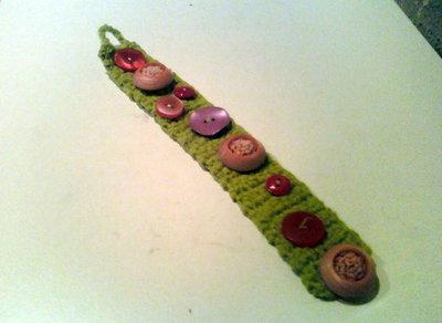 bracciale verde erba e bottoni vintage