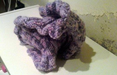 scaldacollo lana viola screziata