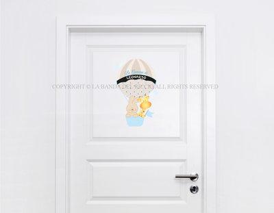 Adesivi per porta cemeretta con lavagna Le Mongolfiere