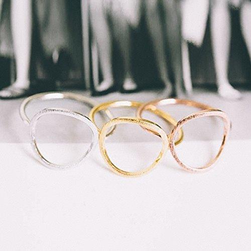 Anello con Cerchio a fascia // Elegante e Chic // Color Oro, Argento, Oro Rosa