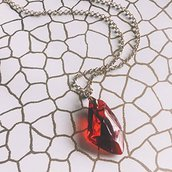 Collana Pietra Filosofale // Harry Potter and the Deathly Hallows // Color Oro e Rosso, Hogwarts