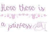 Scritta adesiva princess bambina