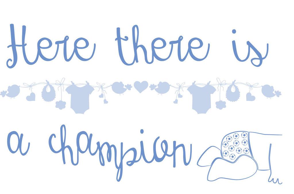 scritta adesiva champion bambino