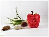 mela cofanetto multiuso color rosso. bomboniera, porta confetti o semplice oggetto decorativo