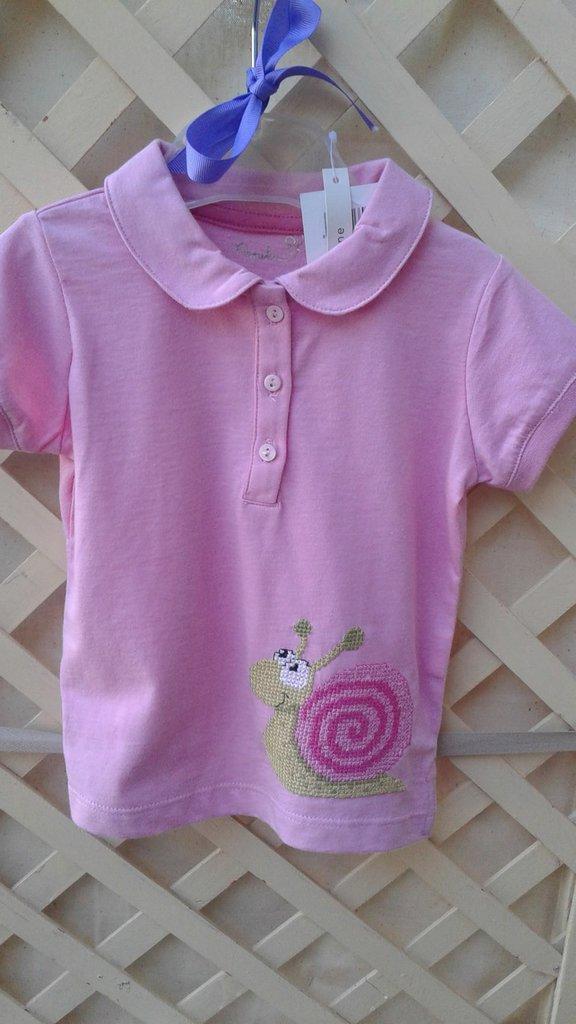 maglietta rosa chiocciola