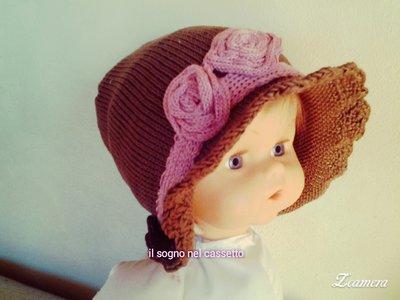 Cappellino in cotone per bambina