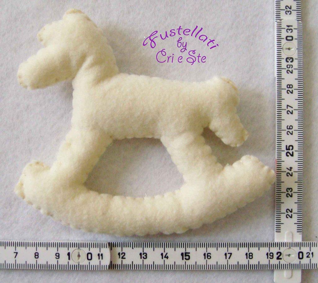 Fustellato Pannolenci Cavallo Dondolo CM01P