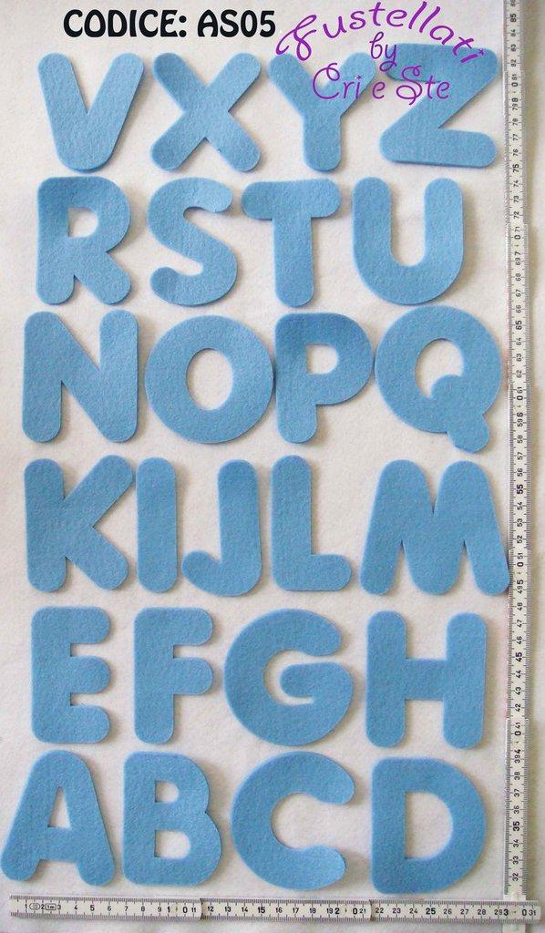 Alfabeto Grande Fustellato in Feltro AS05