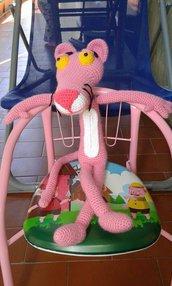 Pantera Rosa amigurumi lavoro all'uncinetto fatto a mano giocatolo 55cm pupazzo