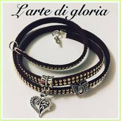 Bracciale in cordino marrone