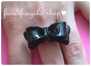 Anello fiocco dolcissimo kawaii lolita ♥ cute bow love