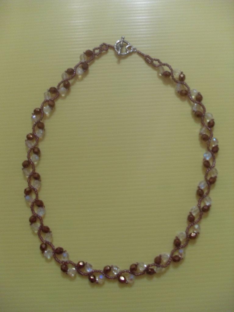 Collana ad intreccio swarovsky Crystal e Bronzo