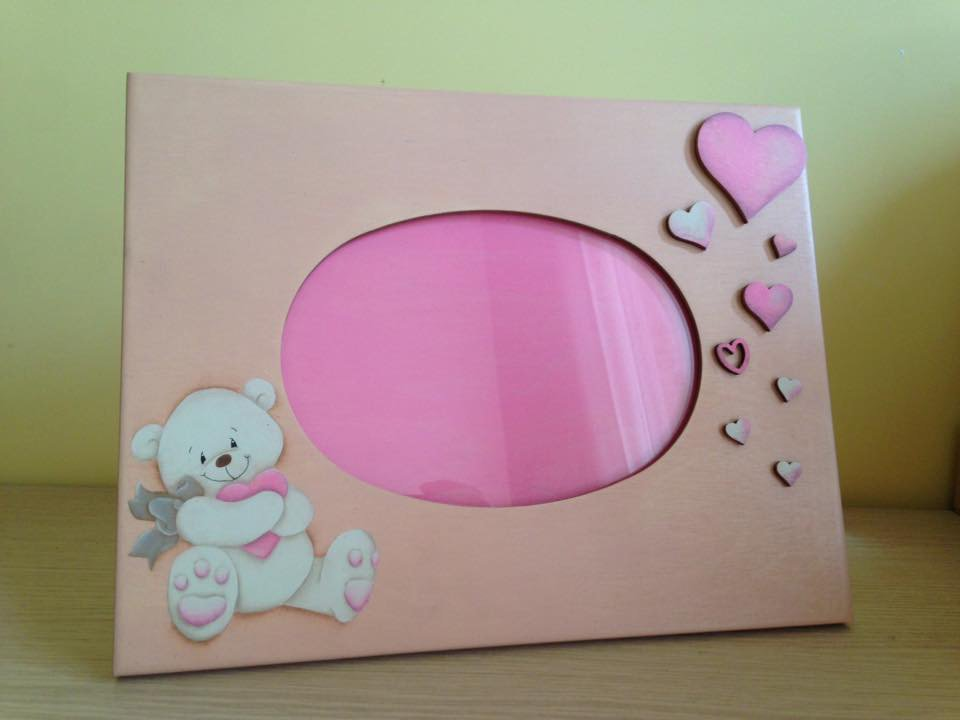 Porta foto con dolce orsetto