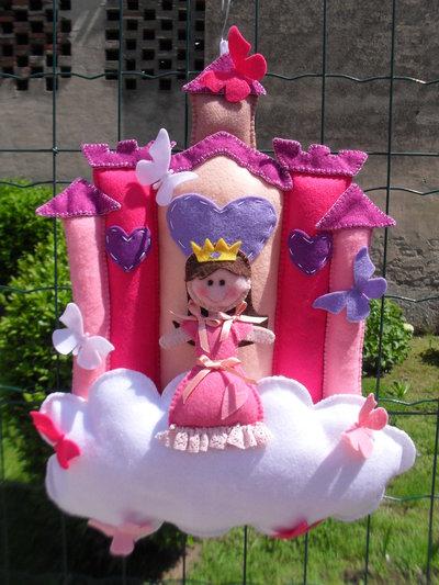 Fiocco nascita....il castello incantato della principessa