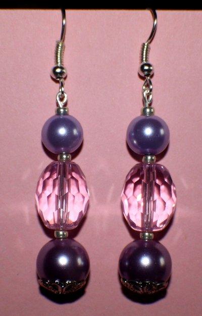 Orecchini perle rosa