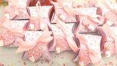 BOMBONIERA COMPLETA DELUXE - battesimo nascita compleanno - scatolina confetti e ciondolo fimo shabby CUORE con BIBERON