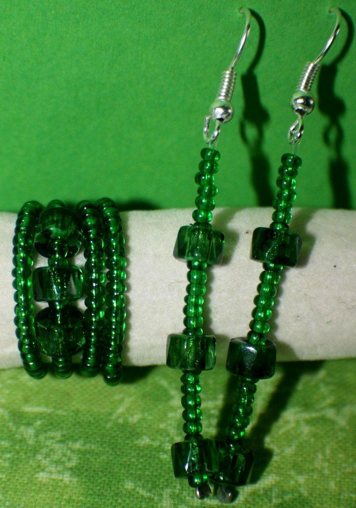 coordinato verde bottiglia