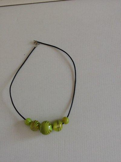 collana con perle rotonde