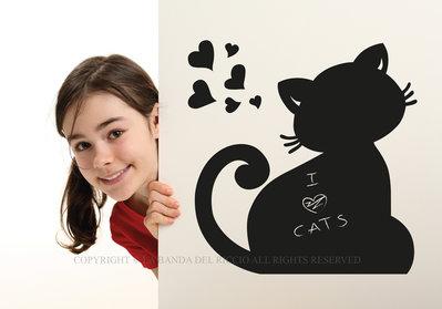 Il Gatto lavagna da muro per la tua casa