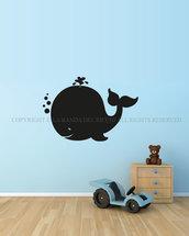 La Balena lavagna da muro per la camera dei tuoi bambini
