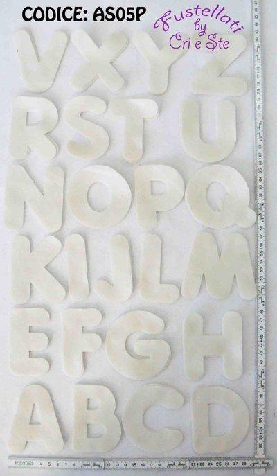 Alfabeto Grande Fustellato in Pannolenci  AS05P