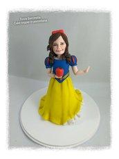 Cake topper caricatura bimba Biancaneve