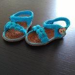 _Le mie prime scarpine_ Sandali neonata 0/6 mesi