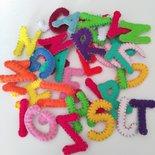 10 Lettere alfabeto pannolenci feltro imbottite cucite a mano