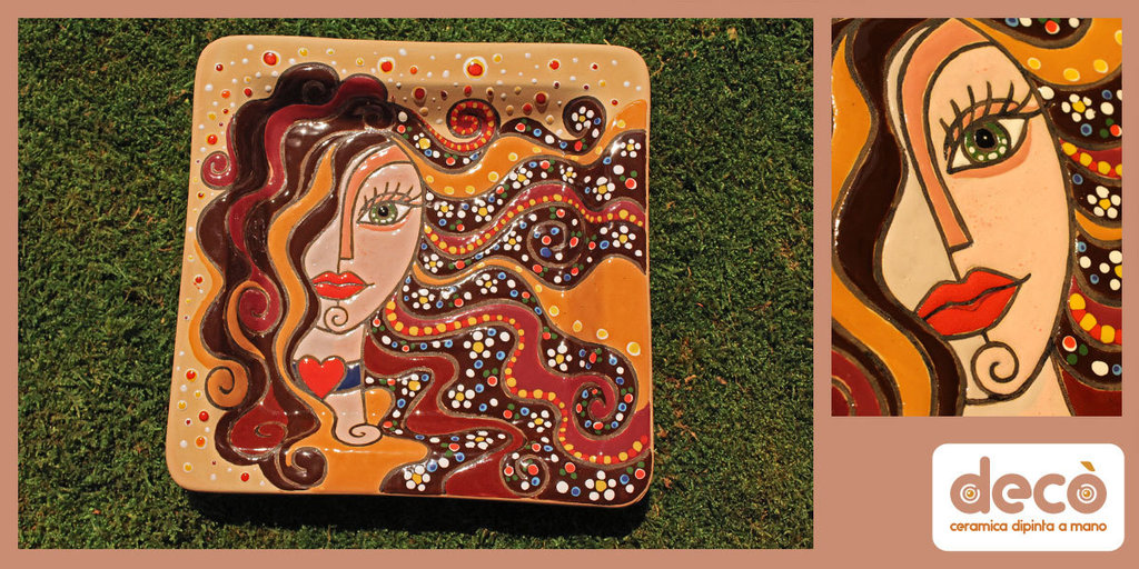 Svuota tasche in ceramica dipinta a mano