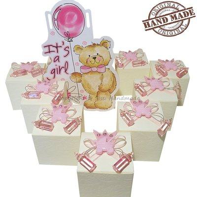 Porta confetti bomboniere per nascita bambina