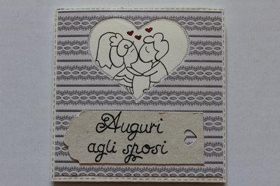 Biglietto Auguri Matrimonio - Sposini Felici