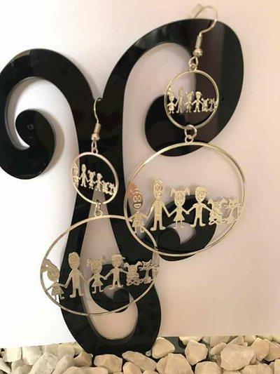 orecchini e collana colore argento
