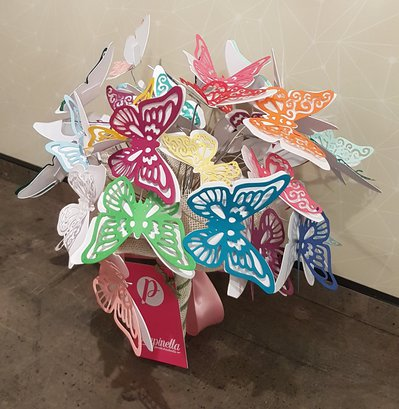 Bouquet Farfalle di carta