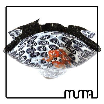 vaso fazzoletto in vetro di Murano