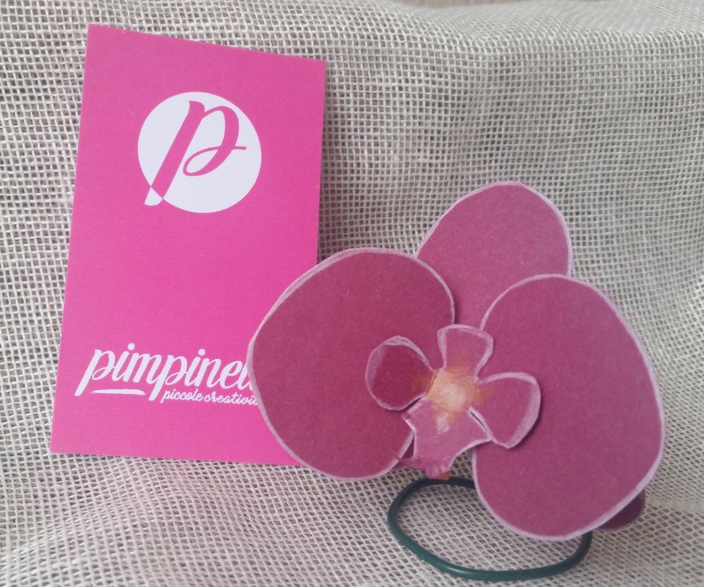 Segnaposto Orchidea carta fiore singolo