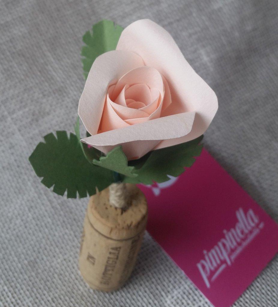 Ben noto Segnaposto matrimonio sughero rosa carta Cena tema vino - Feste  VV15