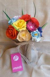 Bouquet fiori carta multicolore