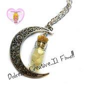 Collana Luna  e frammenti di luna - handmade kawaii barattolo idea regalo