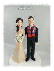 Cake topper personalizzati sposa con abito avorio
