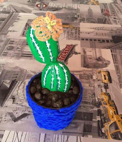 cactus di pietra piccolo 20 cm