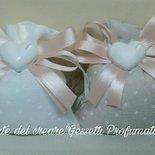 Sacchetto bombonieraShabby chic confetti nascita battesimo matrimonio segnaposto