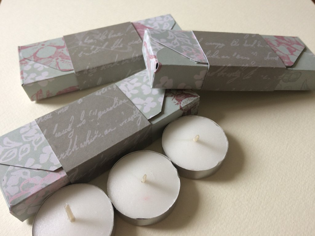 Scatolina confettata matrimonio candele porta regali