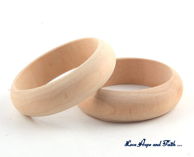 Bracciale/Bangles in legno da decorare (diametro 64mm)