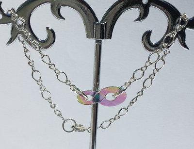 Bracciale con cristallo Swarovski Infinity e catena argentata motivo a infinito