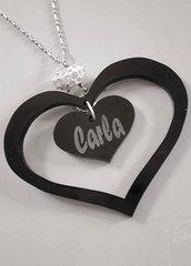 collana -  cuore con nome