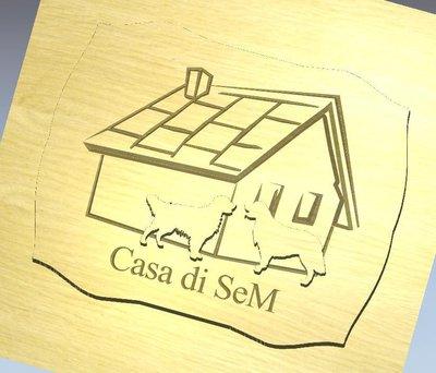 INSERZIONE RISERVATA PER SERENA - TARGA ESTERNO con golden - legno - no fimo