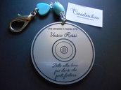 Portachiave CD V. Rossi in plexiglass incisione laser