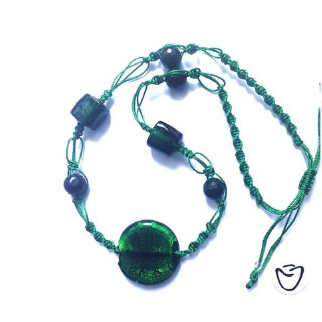 Collana shamballa verde