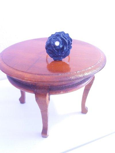 Anello regolabile in fimo rosa blu e strass